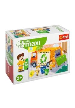 Puzzle 20 miniMaxi - Śmieciarka 2 TREFL