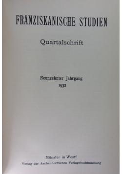 Franziskanische Studien, 1932r.