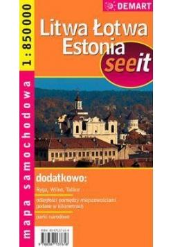 Litwa, Łotwa, Estonia see it - m.samoch. 1:850t