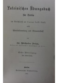 Lateinische Ubungsbuch,  1885 r.