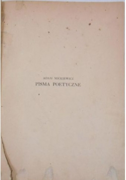 Pisma poetyczne, ok. 1930 r.