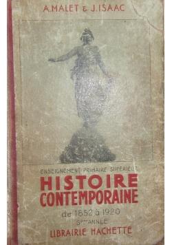 Historie Contemporaine