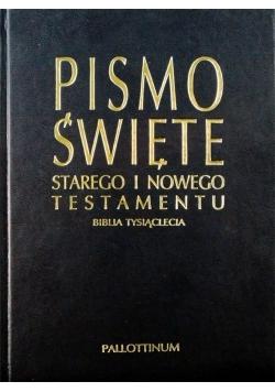 Pismo Święte Starego i Nowego Testamentu Biblia Tysiąclecia eko oprawa granatowa