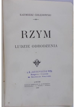Rzym, ludzie odrodzenia, 1911 r.