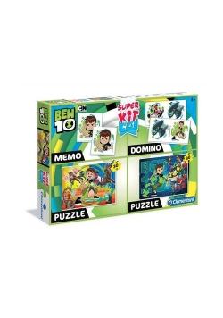 Superkit Ben 10 Puzzle 2x30 +Memo +Domino