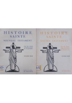 Histoire sainte ancien testament/ Histoire sainte nouveau testament