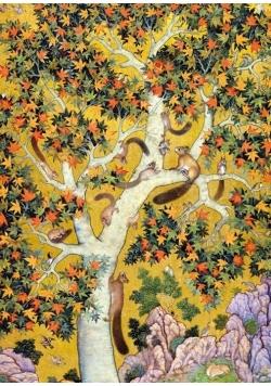 Karnet B6 z kopertą Squirrels on a plane tree