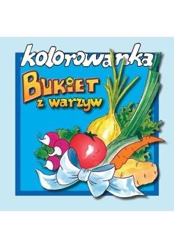 Bukiet z warzyw - kolorowanka