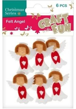 Ozdoba dekoracyjna filc anioł 6el