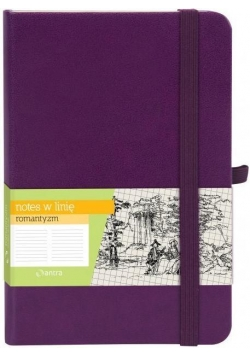 Notes A6 Linia Romantyzm Fiolet ANTRA