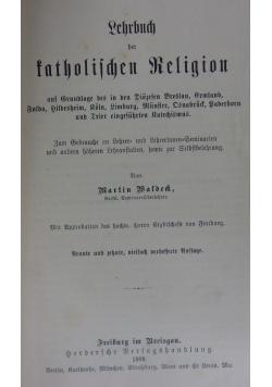 Lehrbuch der  katolischen Religion, 1908r.