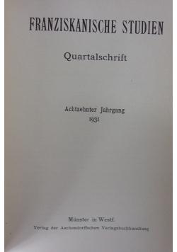 Franziskanische Studien, 1931r.