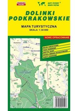 Dolinki Podkrakowskie 1:30 000 mapa turystyczna