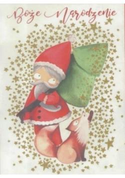 Karnet B6 Boże Narodzenie - Mikołaj (10szt)