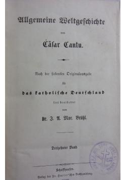 Allgemeine Weltgeschichte von Cäsar Cantu, 1869r.