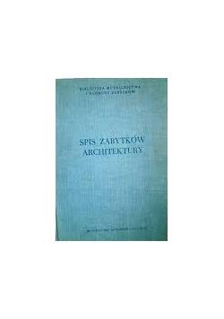 Spis zabytków architektury