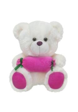 Miś z cukierkiem różowy