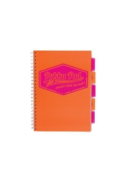 Project Book Neon A4/100 kr pomarańcz (3szt) PUKKA