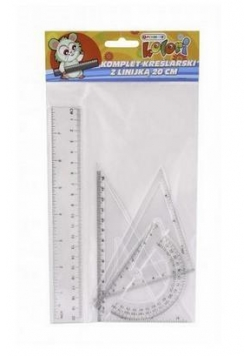 Komplet kreślarski z linijką 20cm PENMATE