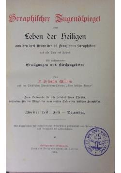 Seraphischer Tugendspiegel oder Leben der Religen, 1889 r.