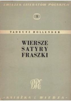 Wiersze satyry fraszki, 1949r.