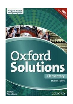 Oxford Solutions Elementary SB OXFORD