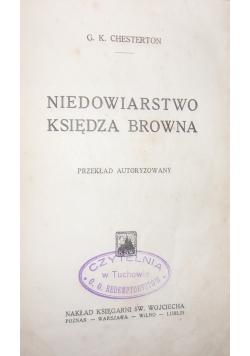 Niedowiarstwo Księdza Browna, 1929