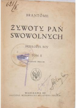 Żywotny pań swowolnych , 1921r.