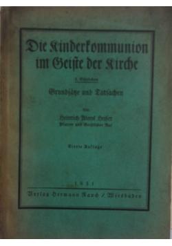 Die kinderkommunion im zeite der kirche, 1931 r.