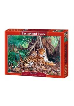 Puzzle 3000 Jaguary w dżungli CASTOR
