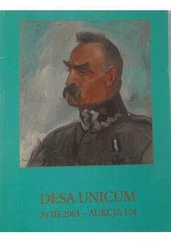 Desa unicum, Aukcja 124
