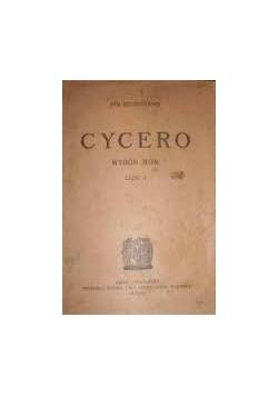 Cycero. Wybór mów, cz. I, 1920 r.