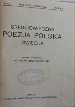 Średniowieczna poezja polska świecka