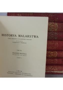 Historya malarstwa, zestaw  8 książek, tom 1-4, 6-9; 1913 r.