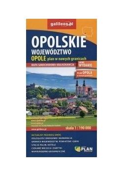 Mapa samoch-kraj. - Woj.Opolskie/Opole 1:190 000