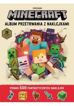 Minecraft Album przetrwania z naklejkami