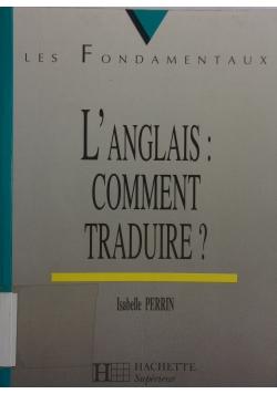 L'anglais comment Traduire?