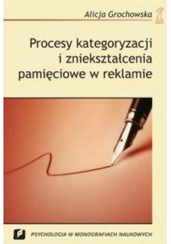Procesy kategoryz. i zniekszt. pam.w reklamie T.11