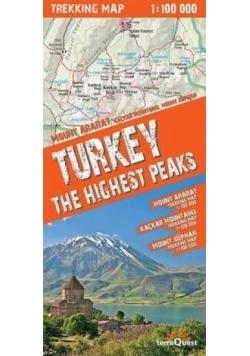 Trekking map Turcja najwy. szczyty 1:100 000 mapa