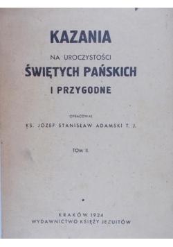 Kazania na uroczystości świętych pańskich i przygodne, 1924 r