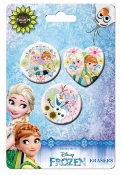 Zestaw 3 gumek do ścierania Frozen