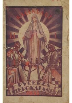 Kalendarz Rycerza Niepokalanej , 1933 r.