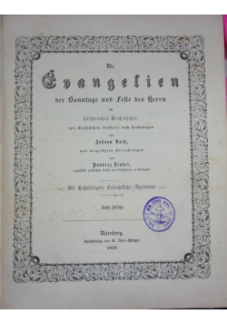 Evangelien, 1857 r.