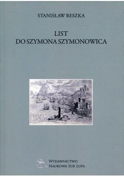 List do Szymona Szymonowica