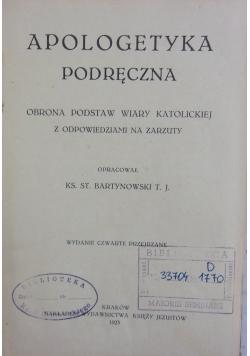 Apologetyka podręczna, 1923 r.