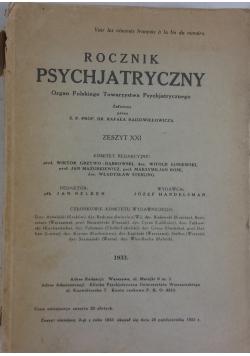 Rocznik Psychjatryczny, 1933r.