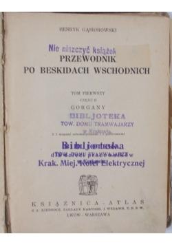 Przewodnik po Beskidach Wschodnich,1935 r.