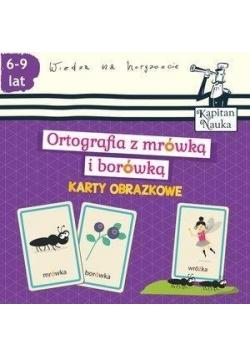 Ortografia z mrówką i borówką (6-9 lat). Karty