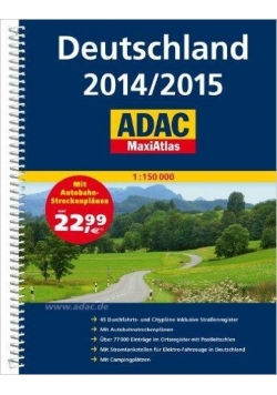 MaxiAtlas ADAC. Deutschland 2014/2015