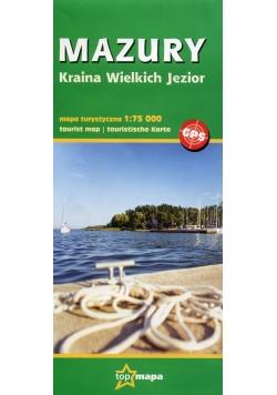 Mazury Kraina Wielkich Jezior mapa turystyczna 1:75 000